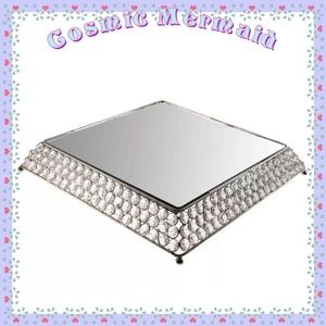 Other - Clear Crystal🆕⭐️Nickel Square Cake Stand⭐️1 Stand